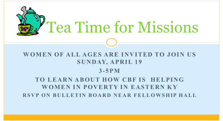 Tea For Missions