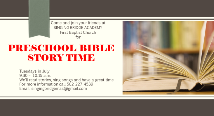 Preschool Bible Story Time